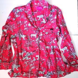 Victoria's secret lion print pajama set
